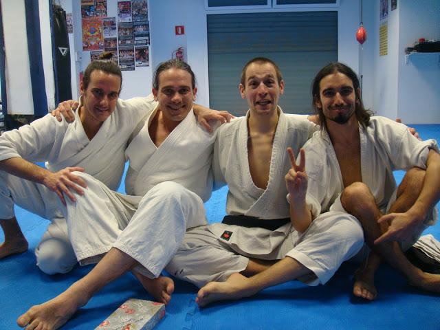 Miguel, Julien Coup et ses partenaires du groupe Kishinkan Spain, Ivan et Oscar