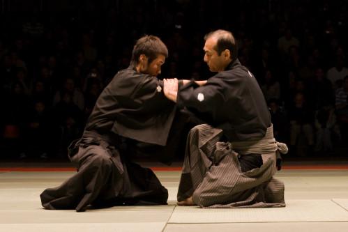 Kuroda senseï en démonstration à la NAMT07 en tenue traditionnelle