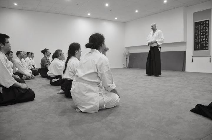 Ellis Amdur au Kishinkaï Dojo, photo de Shizuka Tamaki