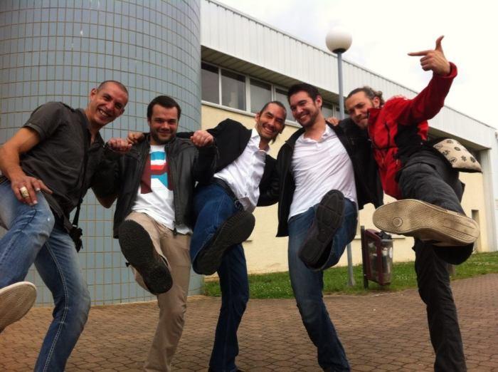 De gauche à droite, Farou Benouali, Tanguy Le Vourch, Léo Tamaki, Takeharu Noro
