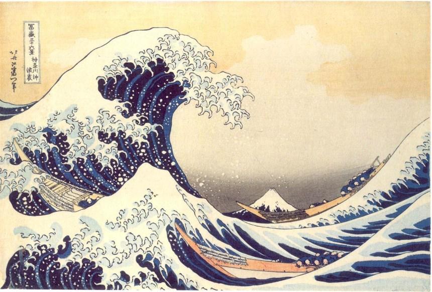 La vague de Kanagawa par Hokusaï