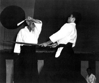 Ueshiba Senseï et Tamura Senseï