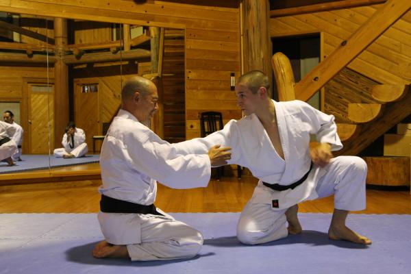 Julien avec Hino Akira Senseï