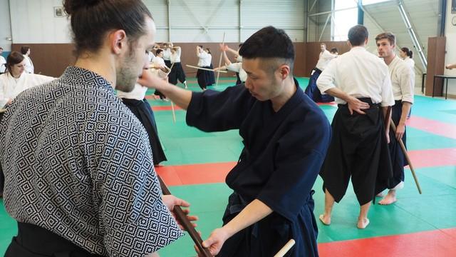 avec Waka Senseï, fils de Kuroda Tetsuzan