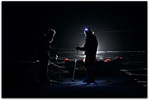 Départ de l'expédition Pôle Nord de nuit